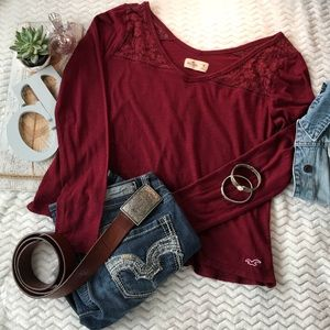 Hollister Top With Lace